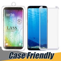 Wholesale Plus Version - Case Friendly For Samsung Galaxy S7 Edge S8 S9 Plus Note 8 Small Version 3D Tempered Glass Full Cover Screen Protector Film With Any Cases