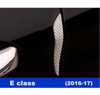Wholesale Vinyl Strip Door - Car Door Crash Scratch Bumper strips decoration Carbon fiber trim decals 4pcs for Mercedes Benz E class W213 2016-17