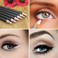 Wholesale Pigment Blue - Wholesale- Professional Eyes Make Up Cosmetics Waterproof Natural Pigment Black Brown White Colored Eyeliner Pencil Cheap Makeup