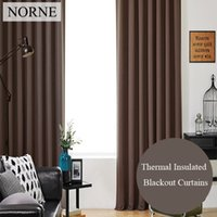Wholesale Green Blackout Curtains - Norne Room Darkening Thermal Insulated Blackout Curtains Noise Blocking Window Treatment drapes curtain for Living Room,Shading Rate 95%