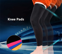 Wholesale Sport Compression Leg - 2pcs Lot Brand Sport Leg Pads basketball knee Sleeves Calf Football Running Training Fit Compression Long Leg Sleeves Protector Pads R15