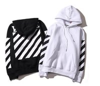 Wholesale Collared Hoodies - Tide Brand Off White Hoodies High Quality Kanye West Abloh Virgil Hoodie Sweatshirt Pullover Hoodies for Men and Women