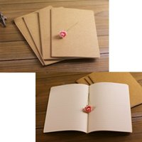 Wholesale A5 Size cm x cm Kraft Paper Notebook Notepad Vintage Soft Copybook Daily Memos Kraft Cover Journal Notebooks