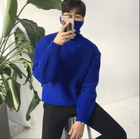 Wholesale Fresh Sweater - New winter sweater Mens male personality thickening trend of Korean turtleneck sweater loose coarse small fresh line