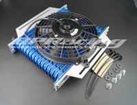 Wholesale Cool Engine - 16 rows AN10 High Performance Transmission Engine Oil Cooler   FAN   BRACKET