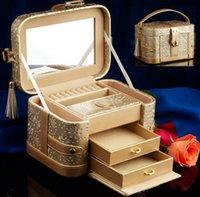 Wholesale Professional Jewelry Storage - Hot Sale Women Cosmetic Case Leather Professional Makeup Box Quality Women Organizer Storage Bag Jewelry Box New Year Gift