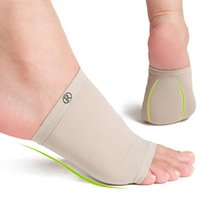 Wholesale Cushion Arch Support Shoe Inserts - 1 Pair Gel Arch Cushion Sleeve Professional Elastic Bandage Silicone Gel Arch Support Orthopedic Massager Shoe Inserts Foot Cover arch pads