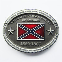 Wholesale Confederate Flag Stars - New Vintage Oval American Star Rebel Confederate Flag Belt Buckle Gurtelschnalle Boucle de ceinture BUCKLE-WT094 Brand New Free Shipping