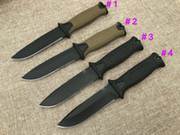 1Pcs GB G1500 Survival Straight knife 12C27 Black Titanium Coated Drop Point Blade Outdoor Camping Hiking Hunting Tactical Knives With Kydex
