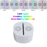 Wholesale led rechargeable ball - LED Base 5 RGB Lights with Bluetooth Speaker USB Charging Built-in Rechargeable Li-battery TF Card Wholesale Drop Shipping