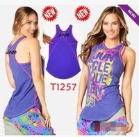 Wholesale Black High Neck Tank - women dance tops yoga vest Queen Of The Jungle High Neck Tank Racerback