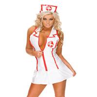 Wholesale Sexy Erotic Nurse - Cosplay Lady uniforms Sexy Erotic apparel nurses Sexy Lingeries Body Suit Porn Erotic Lingerie Ropa Erotica Sex Clothes sets free shipping