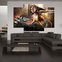 Wholesale Framed Comic - mortal kombat vs dc universe comics wonder woman Frameless Paintings 4pcs (No Frame)