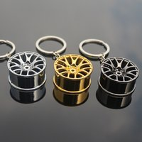 Wholesale Wheel Key Chains - Wholesale car wheel key ring, car modification accessories metal key ring, key chain pendant, free shipping
