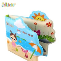 Wholesale Baby Bath Book - Jollybaby Waterproof Boy Girl Baby Bath Book Rattle Early Education Childhood Bath Toy Cognitive Scene Cloth Book