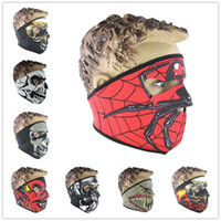 Wholesale Uv Face Caps - Outdoor Sports Cycling Bicycle Motorcycle Cap Skull Hood Hat Mask Veil Balaclava UV Wind 3D Face Mask