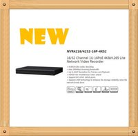 Wholesale 32 Channel Dvr Recorders - DAHUA 16 32 Channel 1U 16PoE 4K&H.265 Lite Network Video Recorder Without Logo NVR4216-16P-4KS2 NVR4232-16P-4KS2