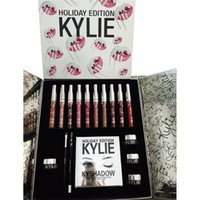 Kit da regalo di Kylie Holiday Edition Kylie Jenner Cosmetic Bags Set da collezione Liquid Lip Gloss Kylie Shadow Palette di Kyshadow con regalo gratuito