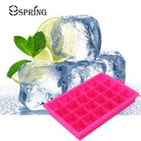 Wholesale Easy Mold - 24 Grid Silicone Ice Trays Big Ice Cube Mold Square Cubes Easy Release Silicone Ice Maker Home Bar Party Kitchen Accessories