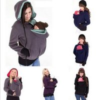 Wholesale Maternity Spring Outerwear - Baby Carrier Kangaroo Coats Pullover Winter Hoodies Fleece Babywearing Kangaroo Maternity Outerwear Jacket Sweatshirts B0810
