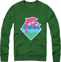 Wholesale White Pink Dolphin Sweatshirt - Free shipping 100% cotton!!! Men Women Pink Dolphin South Coast dolphin sweatshirts round neck pullover sweatshirt Hip-Hop clothing 8 color