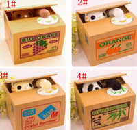 Wholesale Funny Money Banks - Cat Panda Stealing Money From You Mechanical Coin Piggy Bank Mischief Saving Box Piggy Bank Funny Gift For Kids