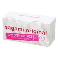 Wholesale Condom Sex Japan - Hot Made in Japan 0.02mm Super Thin SAGAMI Condom 20Pcs Non-rubber Polyurethan M Size 170mm Sex Okamoto