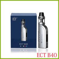 mod electronico negro al por mayor-originales e 2200mah 0.3ohm cigarrillo kenjoy TEC B40 arranque Kits TPD versión cumplido atomizador cigarrillo electrónico kit de caja de plata negro rojo de la MOD