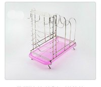 Wholesale Dish Rack Layers - Stainless Steel Multi-function Kitchen Storage Tools Chopping Block Rack Knife Holder with 3 Hooks Random Color