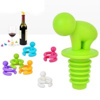 Wholesale Wholesale Cute Wine Stoppers - factory directly Cute Dedicated Cup Wine Glass Silicone Label Rubber Marker Drunkard Bottle Stopper