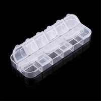Wholesale- 12 Grid Organizer Nail Art Product Custodia in plastica Strass Dired Flower Earring Jewelry Container TF