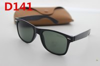 Wholesale Square Frame Wayfarer - Brand designer fashion wayfarers sunglasses men's ladies high quality tide retro outdoor sports original case sunglasses and box