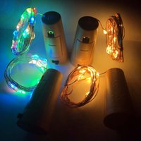 Wholesale dry decor resale online - Wine Bottle Cork Lights M LED M LED Copper Wire Lights String Starry LED Lights For Bottle DIY Wedding Party Christmas Halloween Decor