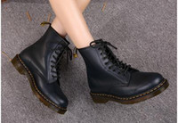 Wholesale Man Martin Shoes - Newest leather boots Winter ankle Style Dr. Genuine Leather Marten Boots Martin Shoes Men&Women Dr Designer waterproof Boots