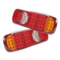 Wholesale Reverse Leds - 24V 40 LEDs Trailer Truck Bus Van Stop Rear Reverse Tail Lights Indicator - Set of 2