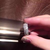 925 ring swarovski großhandel-European 925 Sterling Silber Drehbarer Weiblicher Kristall von Swarovski Simple Temperament Fit Pandora Ring Modeschmuck