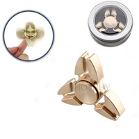 Outdoor Recreation EDC Ottone Fidget Spinner HandSpinner Triangolo Mano Spinner Dito EDC giocattolo per l'ansia di decompressione # 4276
