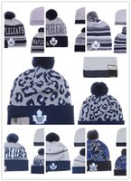 Wholesale Penguin Cap - NHL Ice Hockey Caps Winter Beanie Hats for Men Knitted Wool Hat Gorro Bonnet with Pittsburgh Penguins Chicago Toronto MAPLE LEAFS Warm Cap