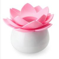 Wholesale lotus toothpick holder for sale - Group buy pc Lotus Home Decor Toothpick Cotton Swab Holder Fashion Colors Lotus Storage Box Pick Toothpick case QB870661