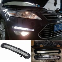 Wholesale Daytime Running Lights Led Mondeo - 2X White LED Daytime Running Lights DRL Fog Lamp For Ford Mondeo 2010 2011 2012 2013
