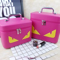Wholesale Large Cosmetic Bag Box - ultra-large capacity Square cosmetic bag convenience portative multifunction seal storage box travel cartoon little monsters PU