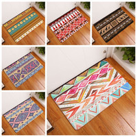 Wholesale Velvet Living Rooms - ethnic design living room kitchen bathroom mat indian boho style rug velvet nonslip doormat bedside decor
