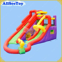 blower for water slide - Inflatable Bouncy Calstle Combo Water Slide for Family Use Bounce House for Kids Jumping Castle with Air Blower