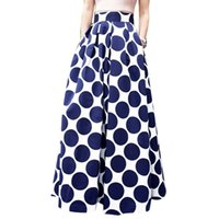 Wholesale Long Skirts Tall - Europe and the United States women's summer dot printed comfortable, cultivate one's morality fashion tall waist long skirts