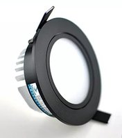 Wholesale Led Down Lights White Shell - Black shell 9W 10W 12W LED Down light COB Dimmable LED Recessed ceiling downlights Lamp For Home Lighting Decorate AC110v 220v LLFA