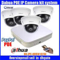 Wholesale Dome Outdoor Security System - Original dahua P2P 1080P CCTV Camera System 4CH NVR4104-P Outdoor HD Infrared Security Camera DH-IPC-HDBW1320E Home Network IP Camera System