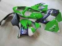 Wholesale Ninja Fairing Zx9r - ABS plastic fairing kit for Kawasaki Ninja ZX9R 2000 2001 green purple fairings set ZX9R 00 01 OY28