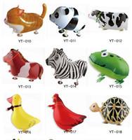 şişme pet balonu toptan satış-Alüminyum hayvan balonlar oyuncak yürüyüş hayvan balon şişme top hayvan folyo balon hayvan balon ücretsiz kargo