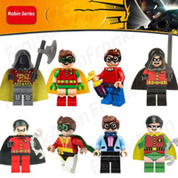 Wholesale Mini Batman - Robin Series Figures Collection Super Heroes Minifig Batman Robin Dick Grayson Night Wing Super Hero Figure Mini Building Block Figures