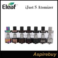 Eleaf iJust S Atomizer 4ML avec Nouveau CEL 0.18ohm Head Top E-juice Remplissage Raising the Bar pour Airflow pour Kit iJust S New Colors100% Original